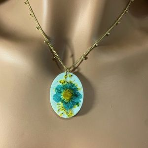 Monarch Blessings   Wild Flower Stone Necklace